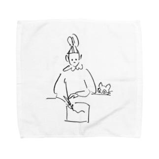 書き物と猫 Towel handkerchiefs