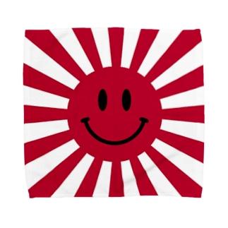 Rising sun (smile red) Towel handkerchiefs