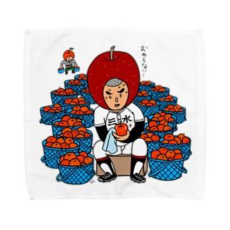 三水家の人々 りんご磨き Towel Handkerchief