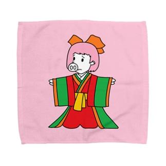 ジュウニヒトンエ(十二単豚衣)!?(ハンカチ版) Towel handkerchiefs