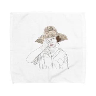 見たくないものは見なくていいよ Towel handkerchiefs