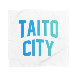 JIMOTO Wear Local Japanの台東区 TAITO CITY ロゴブルー Towel handkerchiefs