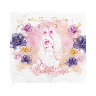 BassetMANIA luxuryFlower シリーズ Towel handkerchiefs