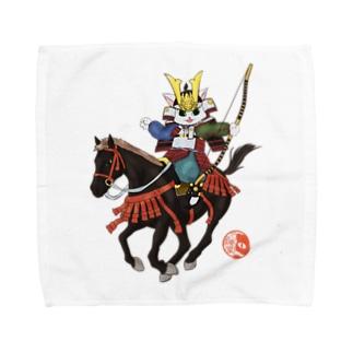 源平戯画 : 義経騎射 Towel handkerchiefs