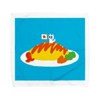 おいしいオムライス Towel handkerchiefs