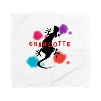 ヤモリcharlotte Towel handkerchiefs