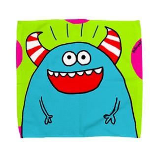 青モンスター Towel handkerchiefs