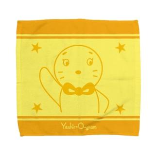 ヤシログラムショップのスタンプ柄 マゴ Towel handkerchiefs