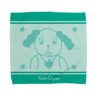 ヤシログラムショップのスタンプ柄 ホイッピー Towel Handkerchief
