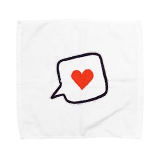 吹き出しハート Towel handkerchiefs