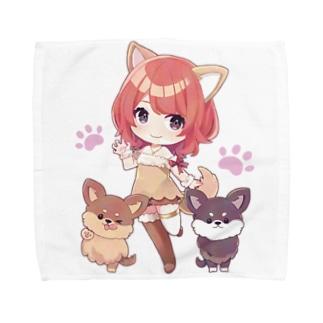 まるぴーとモフモフな愛犬 Towel handkerchiefs