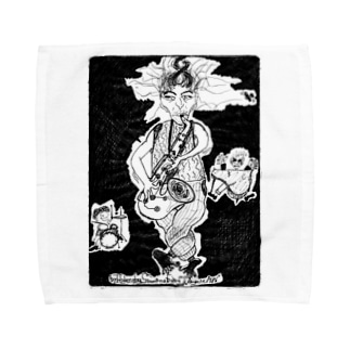 Drive_black Towel handkerchiefs