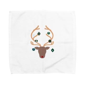 オーナメントナカイ Towel handkerchiefs
