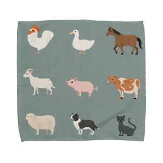 牧場の仲間たち Towel handkerchiefs