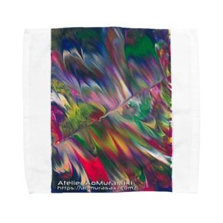 色彩の羽根 006a Towel Handkerchief
