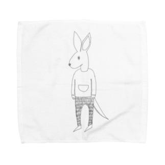 My  friends kangaroo Towel handkerchiefs