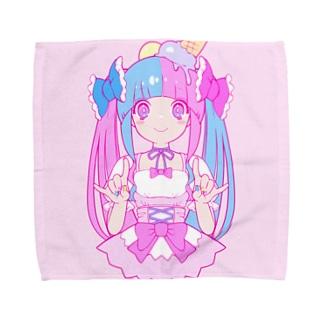 アイスクリーム/ピンク Towel handkerchiefs