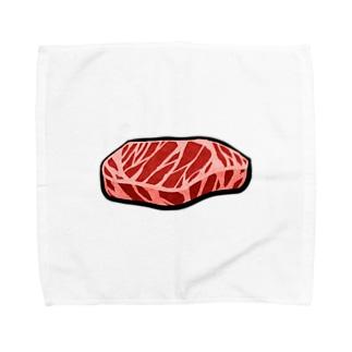 お肉 Towel handkerchiefs