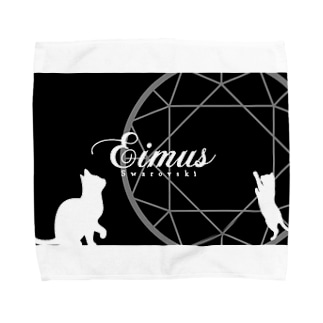 eimusグッズ(黒) Towel handkerchiefs