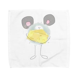 ネズミとほこり Towel handkerchiefs
