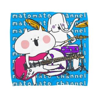 まとまとチャンネル【ネコペチ&エレファン太郎】のネコ&エレ@バンド Towel handkerchiefs