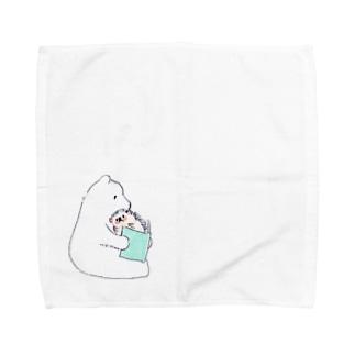 オリジナル ハリネズミのソフィー、シロクマに本を読んでもらう。 Towel handkerchiefs