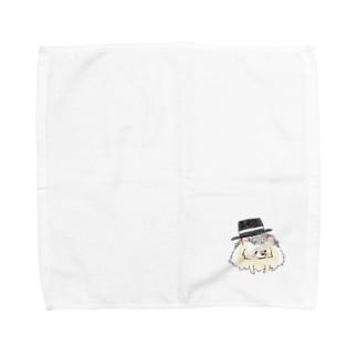 オリジナル ハリネズミのソフィー、ハットをかぶる。 Towel handkerchiefs