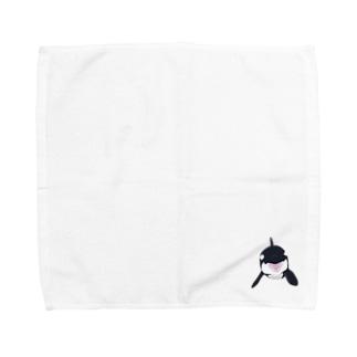 ORCA_正面顔 Towel handkerchiefs
