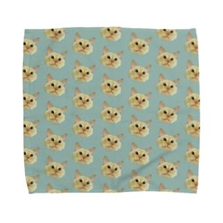 くすみミントカラーで上級者なまりおちゃん🌱🌱 Towel handkerchiefs