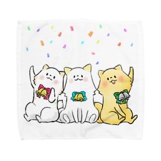 いぬぽめのパーティー Towel handkerchiefs