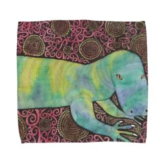 ハナブトオオトカゲ Towel handkerchiefs