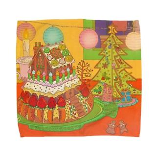 Christmas cake & cookie Towel handkerchiefs