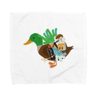 chicodeza by suzuriのカモネギマスターの雑貨とグッズTシャツ Towel handkerchiefs