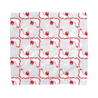 パンナコッタウミウシ【白】 Towel handkerchiefs
