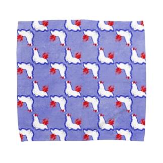 牛乳瓶色ウミウシ【青】 Towel handkerchiefs