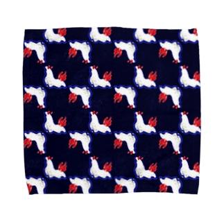 牛乳瓶色ウミウシ【紺】 Towel handkerchiefs