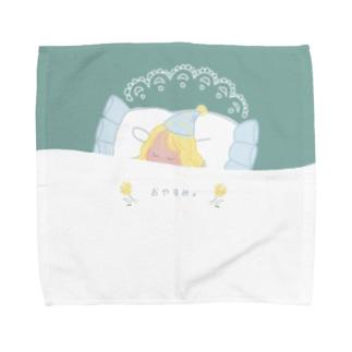 おやすみ。(green) Towel handkerchiefs