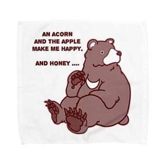 ツキノワグマ Towel handkerchiefs