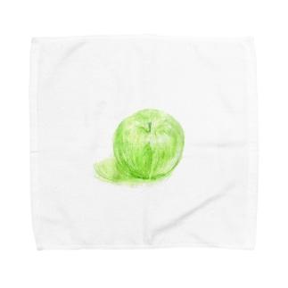 ノートに描いたリンゴ Towel handkerchiefs