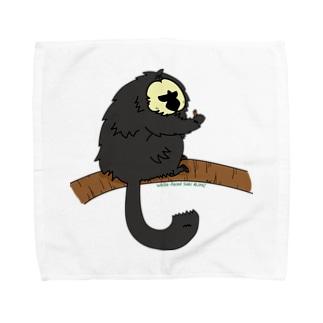 シロガオサキのモップくん Towel handkerchiefs