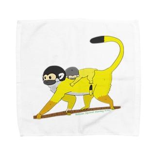 ボリビアリスザルの親子 Towel handkerchiefs