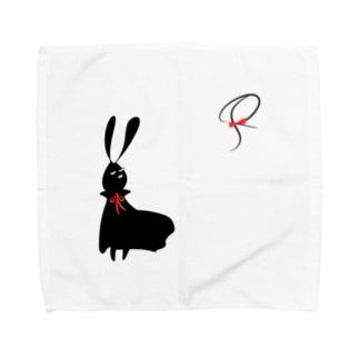 じぇんとるらびっとさん(黒) Towel handkerchiefs