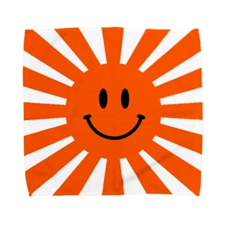 Rising sun (smile orange) Towel handkerchiefs