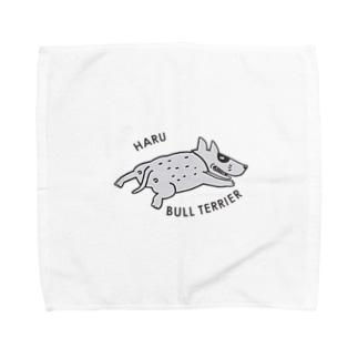 BULL TERRIER HARU Towel handkerchiefs