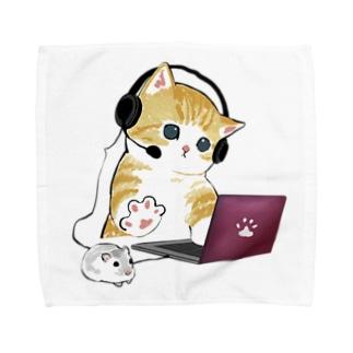 在宅勤務のプロ、その名は猫。 Towel Handkerchief