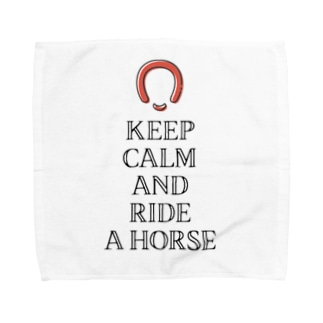 透過済Keep calm 蹄鉄、馬蹄 シリーズ2  Towel handkerchiefs