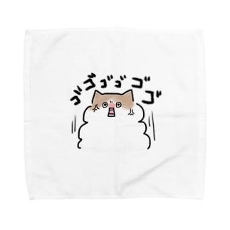 お怒り猫レイくん Towel handkerchiefs