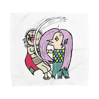 「500円寄付」謝れ!コロナマン、奮え!アマビエ Towel handkerchiefs