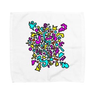 ぽっぷん Towel handkerchiefs