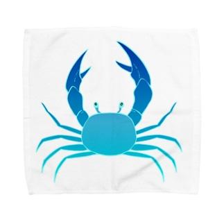 かに Towel handkerchiefs